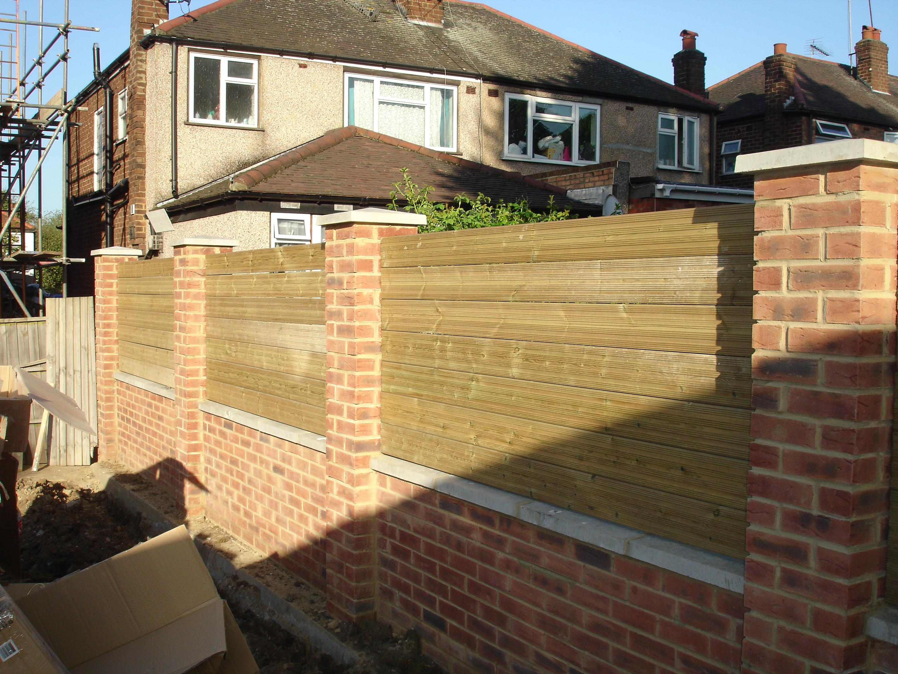 Fine Decorative Brick Walls Garden Pattern - The Wall Art ...